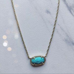 Kendra Scott Turquoise Gold Chain Choker Necklace